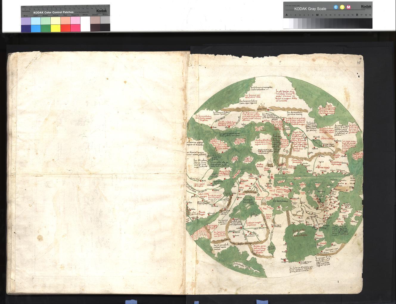 Hist. Fol. 497 - Mappa mundi Cicensis (Zeitzer Weltkarte)